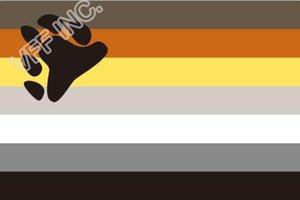 Медведь Pride FLAG Открытый Флаг 3ft х 5ft Полиэстер Баннер Летучий 150 * 90см Пользовательский флаг открытый OF7
