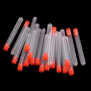 30 adet laboratuvar Test Tüpü Kırmızı Kapaklar ile 16x150 mm Temizle Plastik Test Tüpleri