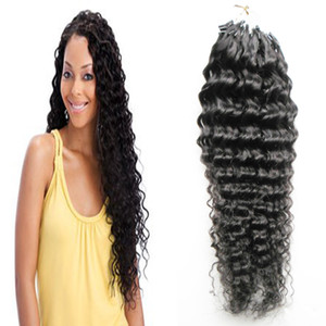 Бразильские волосы глубокой волны Micro Loop Nano Ring Hair Extensions 100G Human Remy Natural Hair