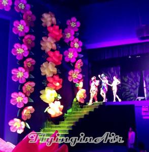 Cadena inflable decorativa de la flor de la diversa flor de la secuencia de los 8m para la etapa y el acontecimiento