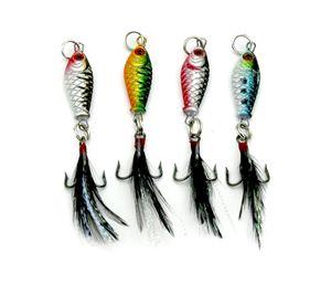 Großhandel 2,5 cm 6,4 g fischköder klassische mini blei jigs metall köder vier farben erhältlich