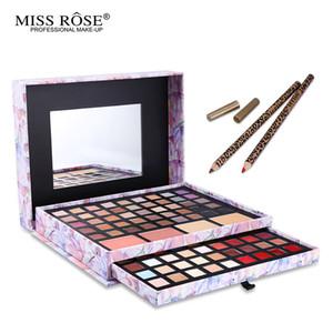 Wholesale- 1 Set Brand Deluxe Portfolio  Cosmeic Set Eyeshadow Blusher Concealer Lipstick Lip Pencil In one Box Make Up Set Miss Rose
