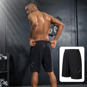 Erkekler Gevşek Maraton Hızlı Kuru Spor Koşu Şort Professiona Katı Renkler Polyester CasualOutdoor Koşu Elastik Şort Pantolon