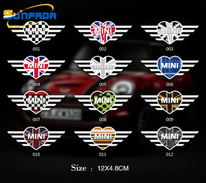 12 x 4.8 cm Auto PVC Finestra Decorazione adesivi Accessori in vinile per BMW Mini Cooper / Countryman / Clubman Car Styling