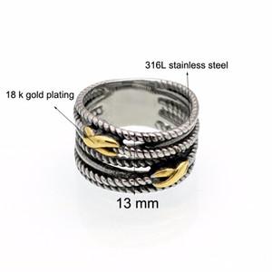 Продажа бижутерии 2017 2017 ретро нержавеющая сталь кольца для женщины бренд Таиланд ювелирные изделия кольца Fit Пандора Шарм