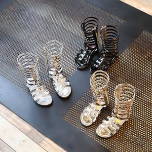 3 Couleurs Enfants Roma Gladiator Sandals Enfants Fille Chaussures D'été Bottes Hautes Sandales Sliver Or Noir chaussures Taille 26-35 Choisissez Taille