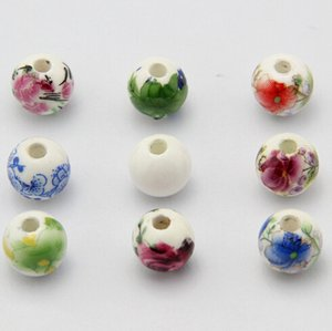 10mm Porcelain Beads,DIY accessories ceramic loose beads,round shape,sold per bag of 100 pcs