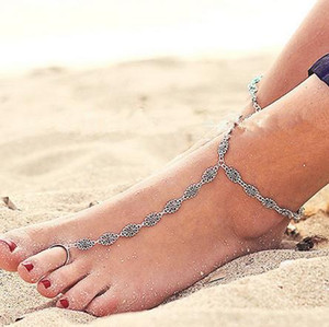 New Europe and the United States Anklet Fashion Hollow Carved Beach Anklet