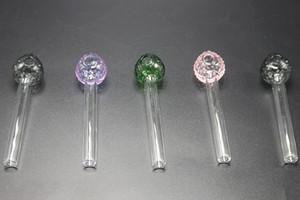 Colorful Pipes Mini vetro trasparente tubo con tubi fragola di stile Ciotola di olio di vetro Bruciatori a mano Mini pipe