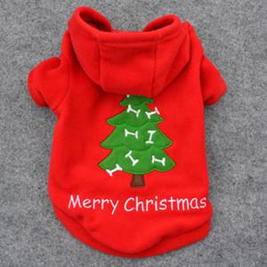 Vente chaude De Noël Pet Chiot Chien Rouge Vêtements Santa Claus Costume Outwear Épais chiens Manteau Vêtements t6726