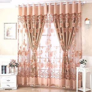 Finestra Floreale Voile Soggiorno Tulle Finestra Tende Da Cucina Finestra Tende Porta Finito Europeo Tende A Tema Lusso Moderno Home Decor
