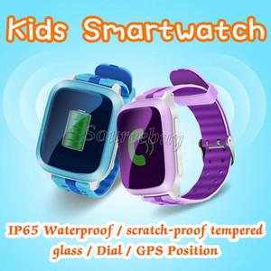 Presente do bebê da criança Relógio Inteligente Com Wi-fi SIM Slot Para Cartão de Discagem SOS LBS Ajuda Localização GPS Rastreamento de Sono IP65 À Prova D 'Água Crianças Relógios DS18