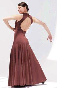 Sexy Backless dress modern dance waltz Tango Foxtrot quickstep costume competition wear evening dress International Dance Skirt