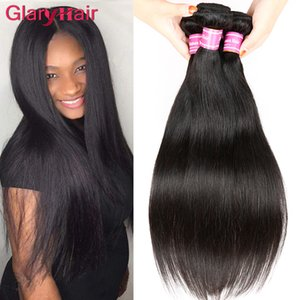 Бразильские выдвижения человеческих волос Малайзии перуанский монгольский Камбоджи лучшие необработанные прямые волосы пучки человеческих волос лучшее качество волос Weave