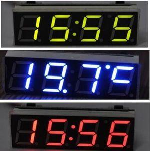 Tensione di temperatura dell'orologio digitale del tubo del veicolo dell'automobile 3 in 1 LED Con il voltmetro del modulo dell'orologio elettronico DC5.0 ~ 30V
