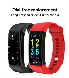 F07 0.96 OLED Schermo a colori Bluetooth Smart Band Bracelet IP68 Impermeabile Swim Heart Rate Smartwatch Orologio da fitness per Android iOS