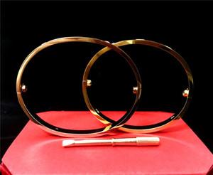 nuovo stile uomini e donne Amore bracciali vite argento rosa braccialetto d'oro con cacciavite Bracciale per gli amanti dei gioielli