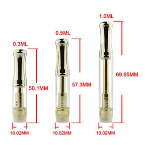 Cartouches d'atomiseur en verre Pyrex Or CE3 Cartouche d'huile épaisse Vaporisateur WAX Atomiseur adapté Bud Touch batterie Vape Pen ecigs