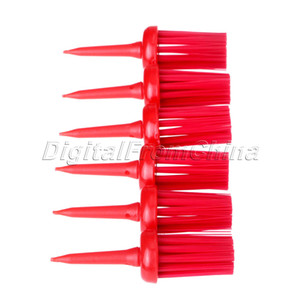 Wholesale- NEW 50Pcs Plastic Bristles Golf Brush Tees Driver Training Bristle Tee 62mm Golf Brushes Tee Tool Accessories Golf Training Aids