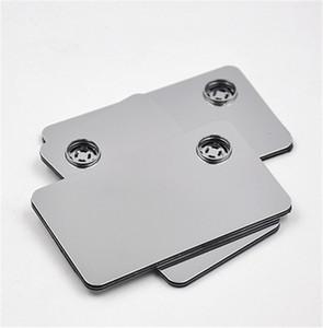 Yüksek kaliteli toptan için Kredi Kartı Sigara Metal borular sigara Tıklama Eğlenceli Metal Manyetik Fit Cüzdan Gümüş cam borular ücretsiz kargo