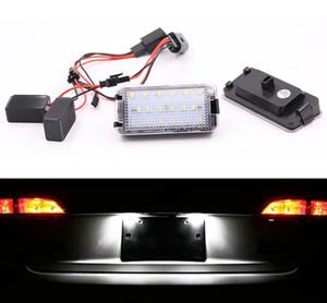 Eclairage de plaque d'immatriculation LED Canbus 2X18MD super lumineux pour Seat 99-05 1M 04-09 Cordoba MK1 d'Altea Arosa MK1 Ibiza Toledo 5P