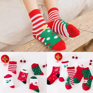 Noel Çorap Rastgele Renkler Toddler Pamuk Çorap Yüksek Dereceli Rahat Rahat Ekip 1-12 Yaşında Çocuklar için Kar Çorap