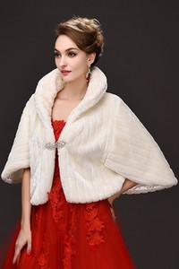 2020 Winter Wedding Coat Люкс искусственного меха Обертывания теплой шали Верхняя одежда корейский куртка женщин вечера выпускного вечера партии CPA913