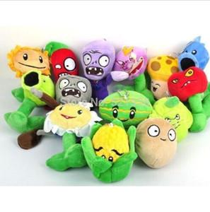 Venta al por mayor de Plants Vs Zombies Lot 14pcs Juguete de felpa Split Bean 6 '' Muñeca de peluche suave para niños Baby.Buy más, más descuento