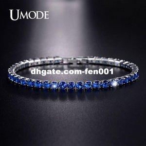 UMODE New Synthetic CZ Diamond Bracciale tennis blu scuro per donne Regali di Capodanno Gioielli moda Bracciali Donna UB0097C