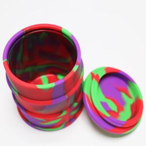 Büyük 500 ml dab wax silikon yağı davul balmumu buharlaştırıcı kalem silikon kavanoz bütan hash yağ silikon bho konteyner