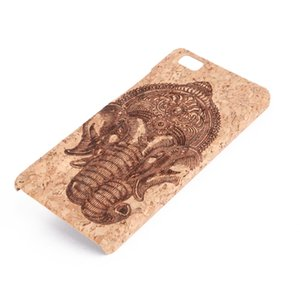 U&I Handcraft Wood Cell Phone Case for Huawei P8 Lite Shockproof PC Side Protective Back Cover Cases