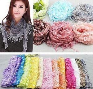 Бесконечность шарфы шифон кружева мульти 20 цветов цветочные печати обертывания 100 шт. Бесплатная доставка