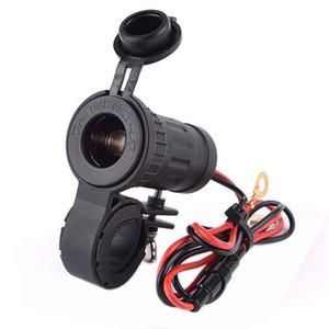 100% 12 / 24V Encendedor de Cigarrillo de la motocicleta HandleBar Adaptador de corriente del teléfono Cargador Max240W 20A