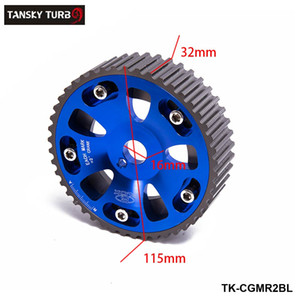 TANSKY -Nuevo 2Pcs / SET para Toyota Celica / MR2 / 3S-GTE Ajustable Cojinete de levas de aluminio Cam Gear Blue TK-CGMR2BL