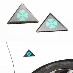 10 pcs Pour Alfa Romeo quatrefoil vert delta Car Side Fender Emblème Badge Autocollant pour 147 156 166 159 Giulietta Giulia Spider GT