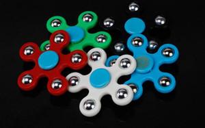 55 pçs / lote caixa de embalagem DHL Cinco-Pointed Star Spinner Fidget Toy Crianças Spinning Top Mão Spinner Finger Focus Finger Spinner para Ansiedade