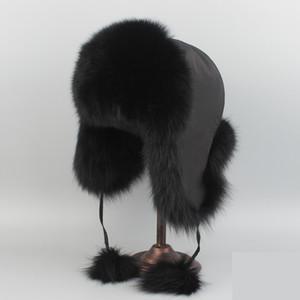 Real Fox Fur Hat или Racccoon меховая шапка зимы женщин папахе России