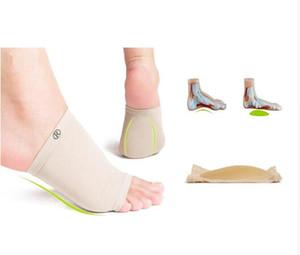 1 Par Gel Fascite plantar Arco de Manga de Apoio de Silicone Arco Meias Calcanhar esporão Almofada Plana Pé Almofada de Sapato Ortopédico Cuidados Com Os Pés Saúde Palmilha