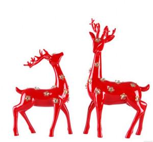 Resina artesanato O símbolo do amor mascote sika cervos decoração de casa A sala de estar do quarto artigos de decoração Presente de casamento para valen