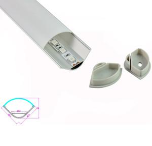 10 X 1M set / lotto Canale in alluminio a luce di striscia a 60 angoli e profilo in alluminio a led per lampade da cucina o armadio