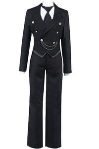 Kukucos Anime Black Butler Kuroshitsuji Claude Faustus Business Suit Uniform Cosplay Costume Men's Sebastian Kuroshitsuji Outfit Deluxe Wa