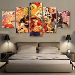 5 패널 Unframed 벽 아트 페인팅 ONE PIECE 집 장식에 매달려 HOfe 장식 캔버스 현대 그림 Unframed