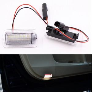 렉서스 IS350 ES LS RX GX LX 및 Toyota Camry Prius Land Cruiser 듀얼 컬러 화이트 + 레드 LED 제품 차량 도어 라이트 Welcome Lamp 2pcs / lot