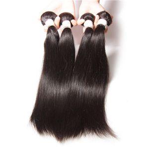 Ирина девственные бразильские шелковистые прямые волосы плетение дешевые бразильские человеческие волосы расширения 4 шт много Пучков уток волос