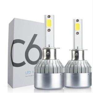 2x Otomobil için LED H1 72W C6 Far Seti 7600Lm Su geçirmez Yedek Ampüller Park 12V 24V DC Ücretsiz Kargo