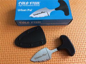 승진! 콜드 스틸 미니 URBAN PAL 43LS 포켓 나이프 420 강철 톱니 모양의 고정 날 캠핑 하이킹 기어 구조 전술 나이프 나이프