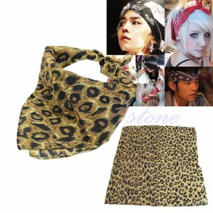 All'ingrosso- Bandana Double Side Leopard Print Paisley Head Wrap Bikers sciarpa fascia