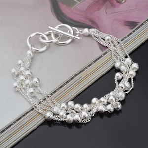 New! Women Fashion Jewelry Silver Plated bangle bracelet Xmas gift