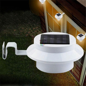 Güneş Lambaları Güneş Enerjili 3 LED Çit Işık Otomatik OL / ON Oluk için Açık Bahçe Yard Lambası Çatı