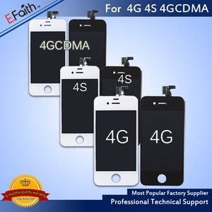 Wholesale-Grade A+++Front Assembly LCD Display Touch Screen Digitizer Replacement Part for iphone 4 4S